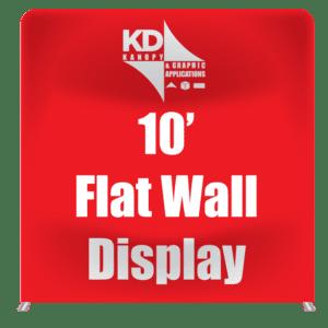 10' Flat Wall Display