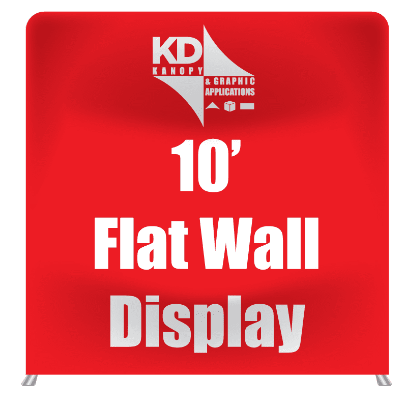 10′ Flat Wall Display