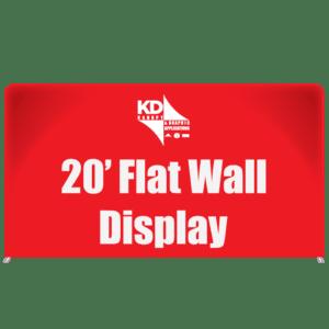20' Flat Wall Display