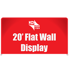 20′ Flat Wall Display