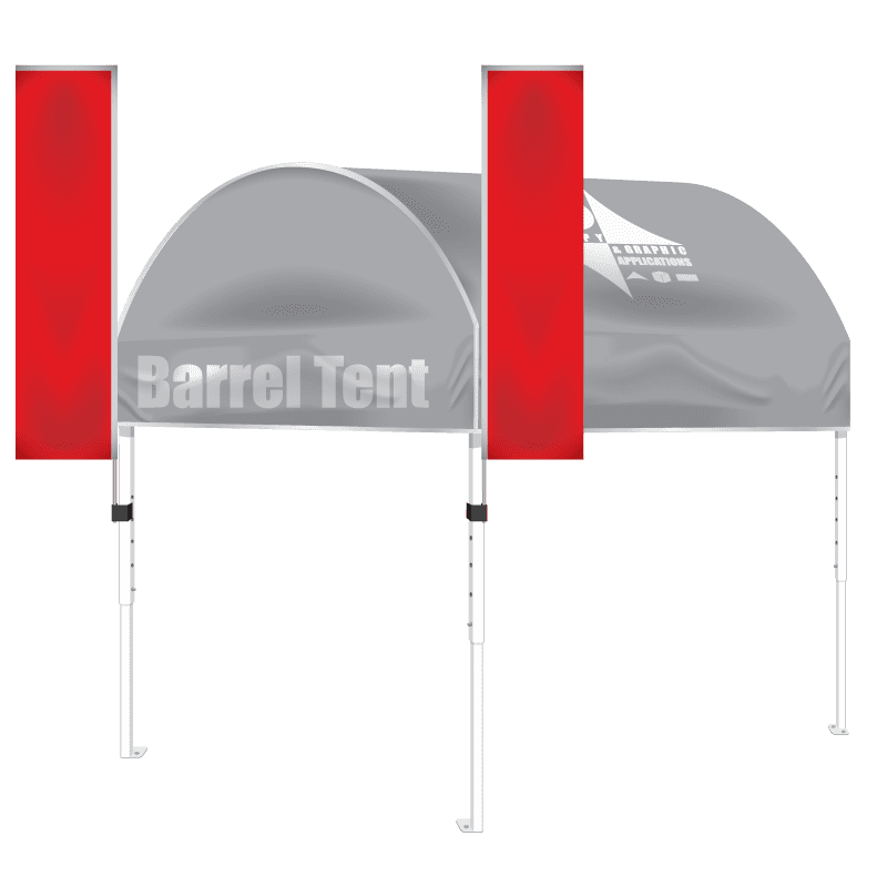 Steel 10′ x 10′ Barrel Tent
