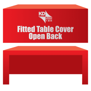 Fitted Table Cover Open Back