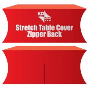 Stretch Table Cover Zipper Back