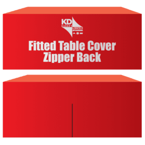 Fitted Table Cover Zipper Back