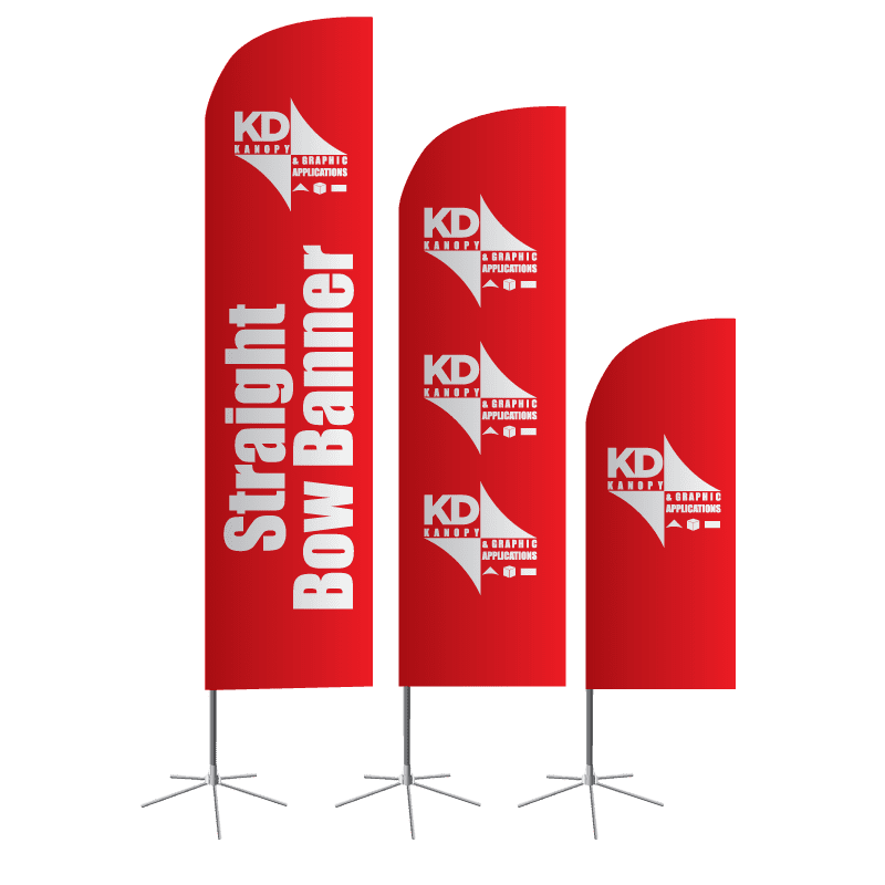 Straight Bow Banner - KD Kanopy - Custom Canopies, Tents