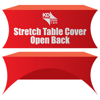 Stretch Table Cover Open Back