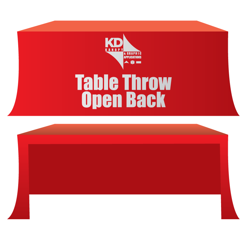 Table Throw Open Back